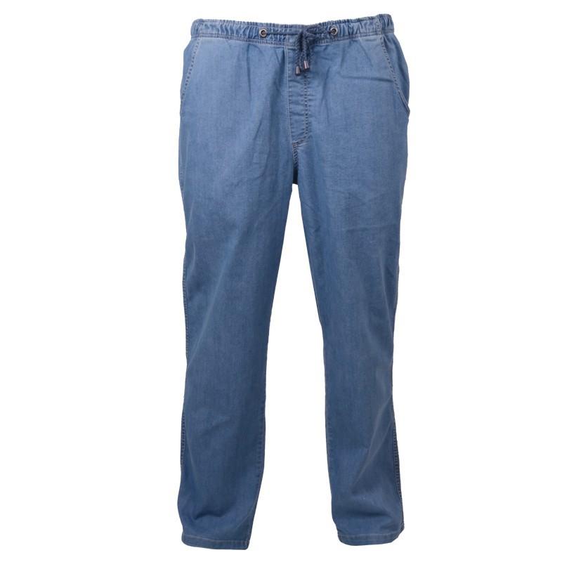 jeans hose mit gummibund blau bleached bergr e. Black Bedroom Furniture Sets. Home Design Ideas