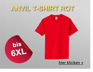 T-Shirt anvil rot Übergröße
