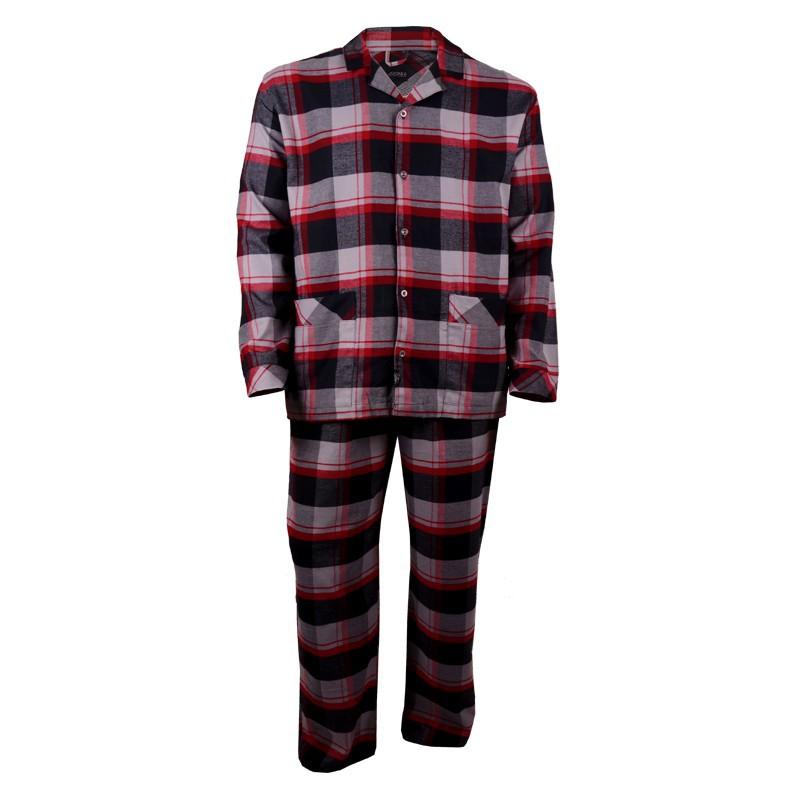 pyjama lang schwarz rot kariert bergr e jockey. Black Bedroom Furniture Sets. Home Design Ideas