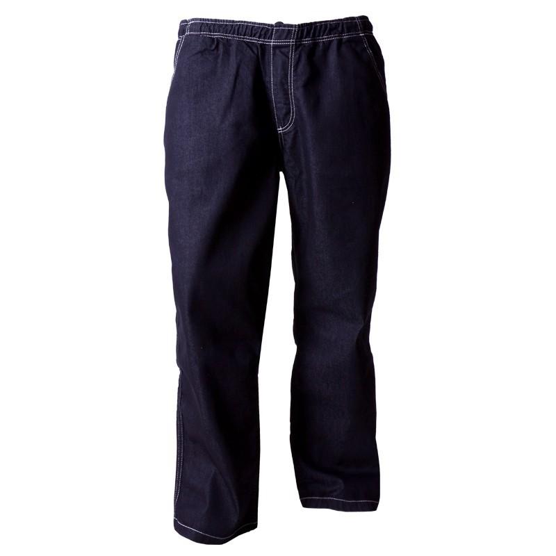 jeans hose mit gummibund dunkelblau bergr e. Black Bedroom Furniture Sets. Home Design Ideas