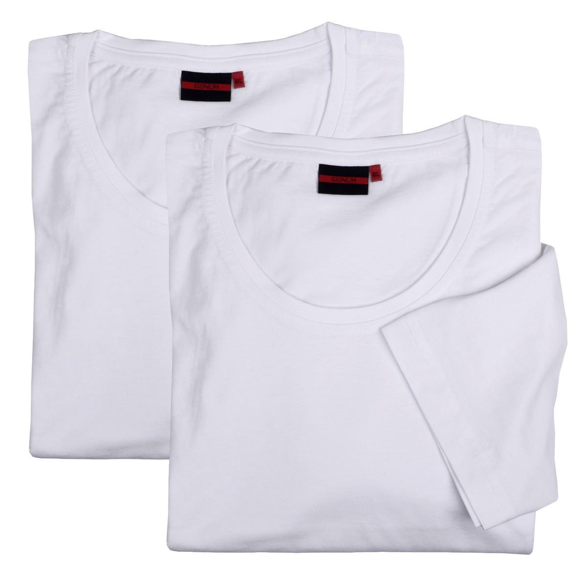 signum doppelpack xxl rundhals t shirt wei bergr en 2xl. Black Bedroom Furniture Sets. Home Design Ideas