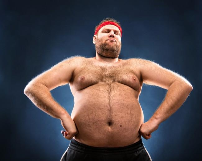 Mann dicker beim harter bauch Dehnungsstreifen am